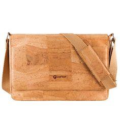 Laptoptasche/Messenger «Corkor L» natur aus Kork | Korkeria Bags, Fashion, Green Ideas, Rainy Weather, Laptop Tote, Tote Bag, Sustainability, Handmade, Nature