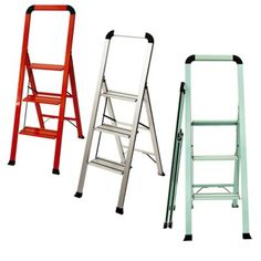 The Designer Series Slim 3-Step Stool in Red folds up so thin, you will be surprised at the places it can be stored. No more lifting things over your head. Stable construction, no-slip rubber feet, and wide treads will make your life safer and easier.