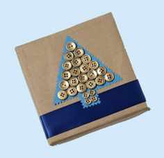 Christmas Tree with gold button ornaments