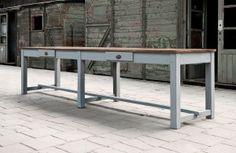 Ronde massieve houten tafel tables pinterest tables