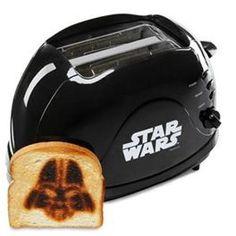 Star Wars Darth Vader Bread Imprinting Toaster from ThinkGeek Objet Star Wars, Cocina Star Wars, Decoracion Star Wars, Jar Jar Binks, Star Wars Kitchen, Darth Vader Toaster, Anniversaire Star Wars, Alec Guinness, Geek Stuff