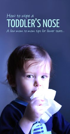 Some tips and tricks teach you How to Wipe a Toddler's Nose even while he or she is fighting it! Eliminate tears, and get those passages clear!