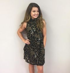 Wild About You Leopard Print Dress $89