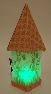 Lantern I designed for an Extravaganza from the petal cone die
