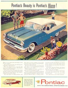 Pontiac Star Chief Custom Catalina 1955 - Mad Men Art: The 1891-1970 Vintage Advertisement Art Collection