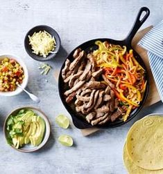 Beef Fajitas with sweetcorn salsa Easy Steak Recipes, Beef Recipes, Cooking The Perfect Steak, Beef Fajitas, Beef Strips, Fajita Seasoning, Beef Sirloin, Low Carb Sauces, Fresh Avocado