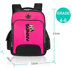 Premium Quality Orthopedic Ergonomic Cushioned Breathable School Backpack 5 Colors 2 Sizes