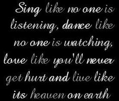 Inspirational Quote Words Quotes, It Hurts, Singing, Heaven, Inspirational Quotes, Love, Sky, Life Coach Quotes, Amor