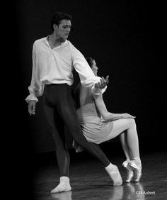Hugo Marchand and Marie Agnes Gillot. Goldberg Variations, Paris Opera Ballet. Photo by Isabelle Aubert