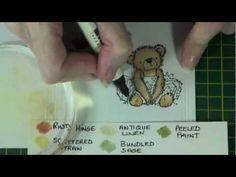 Distress Marker colouring tips.