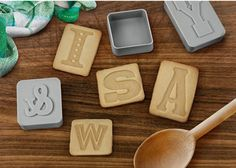 Letterpress Cookie Cutters and Stamps