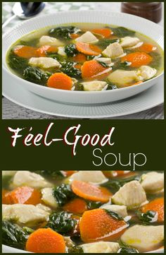 A homemade chicken soup like this one can make you feel good all over.