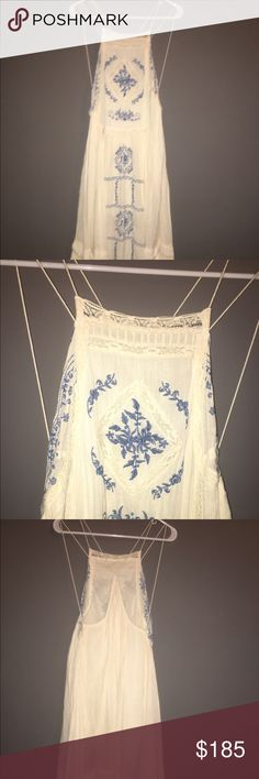 Bohemian Free People dress Cute and never worn! In perfect shape. Great with a lace bra or tank top. Free People Dresses