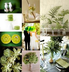 I love everything about this!  I think we are going to go the succulent route instead of florals.  I do love me some green :).  green wedding