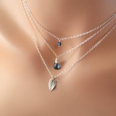 NEW Sterling Silver Layering Necklaces London Blue by livjewellery, $125.00