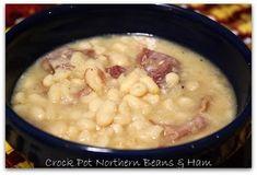 Mommy's Kitchen: Crock Pot Northern Beans & Ham {Potluck Sunday}