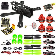 LHI 220 Quadcopter Kit Full Carbon Frame Kit+DX2205 2300KV Brushless Motor+ Littlebee 20A Mini ESC+F3 Flight Controller Board Cleaflight 6DOF Standard+700TVL camera+TS5828 FPV 5.8G 32CH. This action is a DIY Replacement QAV250 Quadcopter, it is unassembled, come with original LHI2205 2300KV motor and Littlebee 20A Mini ESC, high quality!. This kit is a very popular Mini Drone, it has a strong rack, beautiful appearance, and a stable structure for smooth flight, it is the best choice for…