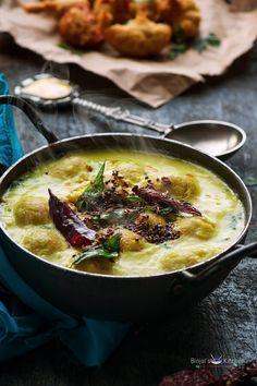 Punjabi Pakora Kadhi - Binjal's VEG Kitchen