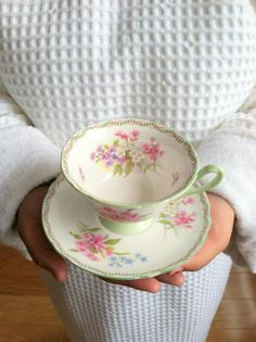 Shelley Footed Gainsborough Shape Tea Cup and by MariasFarmhouse, $75.00