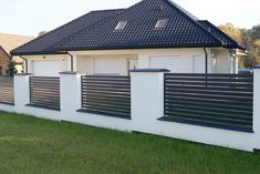 House Fence Design, Window Grill Design Modern, Fence Gate Design, Modern Fence Design, Entry Gates, Dream House Exterior, House Entrance, Modern Exterior, House Front