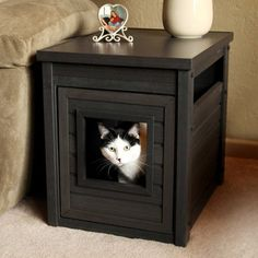 Litter Box Cover End Table