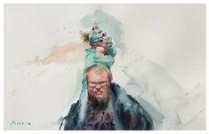 Eudes Correia: 2 тыс изображений найдено в Яндекс.Картинках Watercolor Artists, Watercolor Portraits, Watercolor Landscape, Watercolor Illustration, Watercolor Paintings, Watercolour, Painting People, Figure Painting, Portrait Sketches