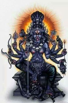 Navratri is an occasion to perform and observe the spiritual practices for awakening the Shakti within you Kali Shiva, Kali Hindu, Kali Mata, Shiva Shakti, Hindu Art, Durga Ji, Saraswati Goddess, Mother Kali, Mother Goddess