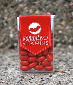 Vampire Vitamins Halloween Treat - CUTE, my little ghouls love tic tacs.