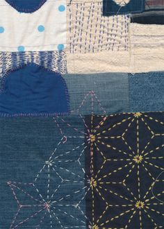 """kayte @ http://www.thisisloveforever.com/ """"A few more snippets of some quilt pieces I am working on. Someday, these will be done. Although that's a bit of a problem with improvisational art quilts. It's so hard not to add just one more stitch, just one more patch. It's a meditative process, adding, taking away, cutting and layering. I love it."""""""