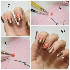 Du liebst ausgefallene Nägel? Hier ein paar Tricks von Pinkmelon-Userin Irma, mit deren Hilfe du im Handumdrehen Dreiecke, Punkte und andere Muster auf deine Nägel zauberst. Viel Spaß!