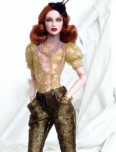 https://flic.kr/p/cNjf7W | VivA | Viva with a Patta Art wig, draped collar necklace by Leigh Slaughter, blouse by Madeleine Rose Couture, Numina pants, shoes and hair butterfly.