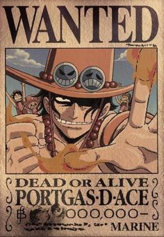 Ace One Piece Wanted Poster Picture