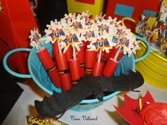 superhero party centerpieces - Google Search