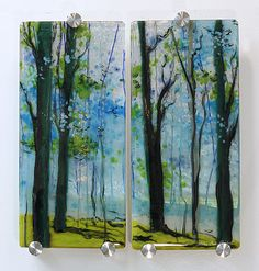Conversations, fused glass by Alice Benvie Gebhart