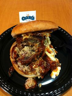 Pulled pork sandwich with cole slaw from Corky's in Memphis.
