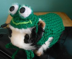 Halloween Costume  Crocheted Guinea Pig Frog Sweater by Fancihorse