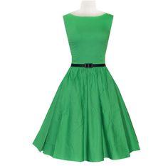 Green Belted Vintage Dress