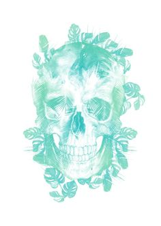 tropical skull green nature