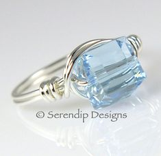 March Birthstone Argentium Sterling Silver by SerendipDesignsJewel $24 Double click on image for more info or to purchase