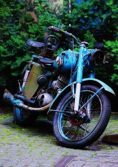 Old motorbike in Riga