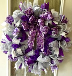 A personal favorite from my Etsy shop https://www.etsy.com/listing/481042313/christmas-silverpurple-and-white-deco