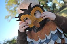 educated for love: No-Sew Homemade Owl Costume