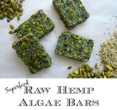Raw Hemp Algae Bars