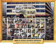 50s Office Building cutaway