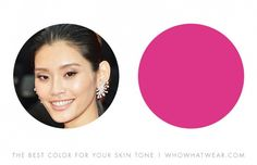 """2. Ming Xi """"Olive skin tones are flattered by vibrant pinks and fuchsia—shades that will reflect some rosy glow against the skin."""" — Leatrice Eiseman, author of More Alive With Color"""