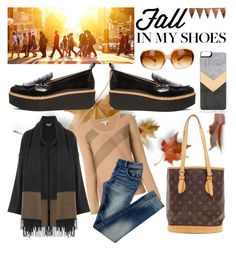 """Shoes ..."" by carlina-tof ❤ liked on Polyvore featuring Flamingos, Salvatore Ferragamo, Burberry, Oliver Peoples, Zero Gravity, Louis Vuitton and Bethany Lowe"