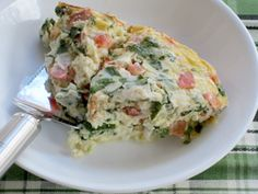 One serving of this slow cooker spinach & mozzarella frittata is 74 calories.