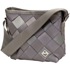 Maggie Bags Small Messenger- Lt Grey ($80) ❤ liked on Polyvore
