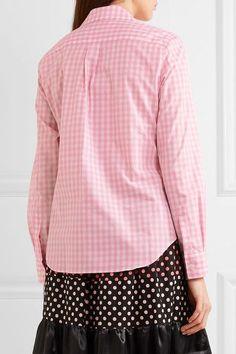 Comme des Garçons GIRL - Ruffle-trimmed Gingham Cotton-poplin Shirt - Pink - x small