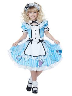 Girls Deluxe Alice In Wonderland Costume